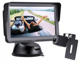 """Parkovací kabelový set do auta: 5 """"monitor + FULL HD mini zadní kamera (IP68)"""