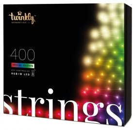 Lumières LED pour sapin de Noël - LED Twinkly Strings - 400 pcs RGB + W + BT + Wi-Fi