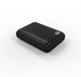 3x出力Micro USB / USB C / Lightningコネクタ付き電源バンク-10000 mAh