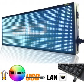 Gran panel LED con pantalla a todo color - 76 cm x 27 cm