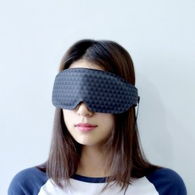 Sleep mask with graphene film with heating