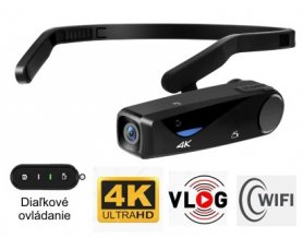 Head camera POV Vlog sports camcorder with 4K resolution + WiFi + accessories