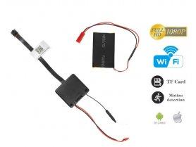 Mini pinhole Full HD kamera s batériou a detekciou pohybu + WiFi + podpora micro SD 128 GB