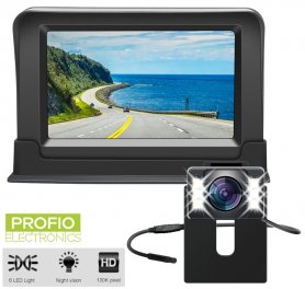 "Car reversing camera Set -  4,3"" monitor + rear camera with 6 LEDs (IP68)"