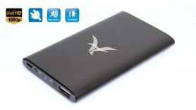 Caricatore portatile con Full HD telecamera nascosta con rilevazione di movimento e LED IR