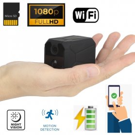 Mini Full HD kamera Wi-Fi s 120° uhlom+ Extra výkonné IR LED až do 10 metrov + držiak360°