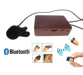 The most powerful spy earpiece + bluetooth 7W amplifier SIM card + external mic