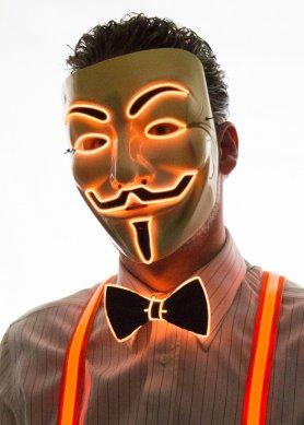 Anonimna maska - narančasta