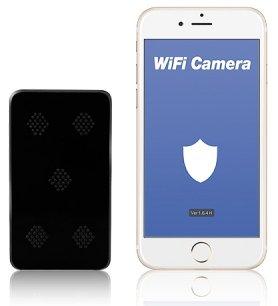Fekete dobozos kamera FULL HD + 5000 mAh akkumulátor + IR LED + WiFi + P2P + mozgásérzékelés