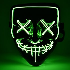 Mască de Halloween Purge LED - verde