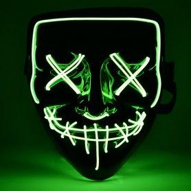 Halloween mask Purge LED - Green