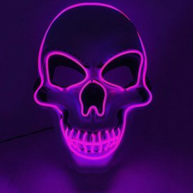 LED mask SKULL - purple