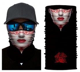 Elegante sciarpa nera con stampa 3D - FANTOM WOMAN