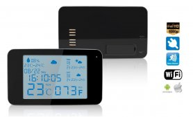 Weather METEO station with clock and WiFi IP Full HD camera with IR