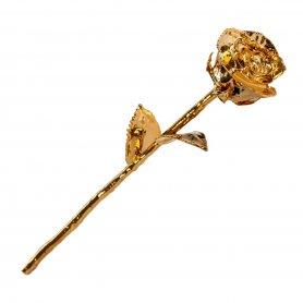 Arany rózsa 24 k aranyszínű lapos (mártott) -tökéletes ajándék egy nő számára