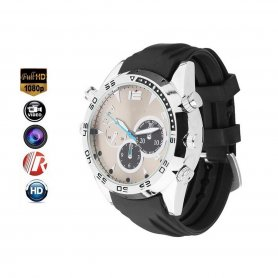 Spy watch camera with FULL HD + IR LED + 32GB memory