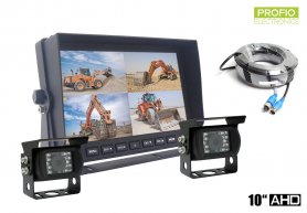 "Reversing camera kit LCD HD car monitor 10""+ 2x HD camera with 18 IR LEDs​"