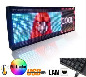 Large screen LED display - Full color 100 cm x 27 cm