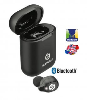 Translator headphones for smartphone in real time with charging case - Supreme BTLT 200
