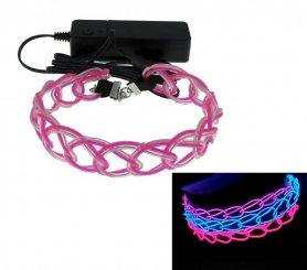LED luminous flashing necklace - Pink blue