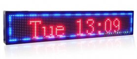 LED information panel with support of 7 colors - 51 cm x 15 cm