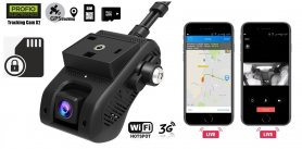 Dual car camera with remote monitoring GPS + Live Cam - PROFIO X2 + SIM/Micro SD Lock