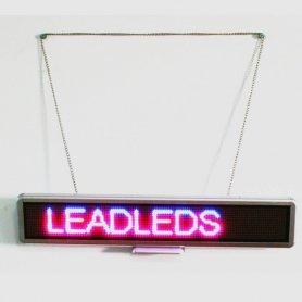 Affichage LED avec texte défilant en 3 couleurs - 56 cm x 11 cm