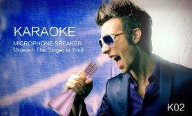Party karaoke 5W microphone with Bluetooth and memory card