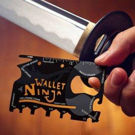 Ninja pénztárca -multifunkciós 18in1 szerszámkártya