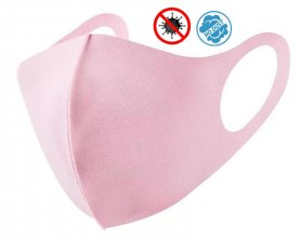 NANO face mask Pink - elastic (97% Polyester + 3% Spandex)