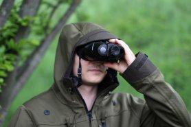 Daljnogled - nočni vid do 100m / 400m dnevna svetloba z naglavnim trakom + mikro SD