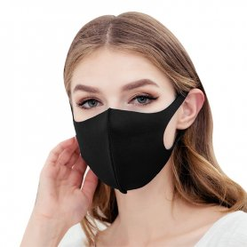 Protective face mask NANO black - elastic (97% polyester + 3% spandex)