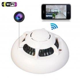 煙検出器カメラWifi + IR近接LED付きフルHD