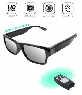 Occhiali spia con videocamera FULL HD e telecomando + 16 GB di memoria