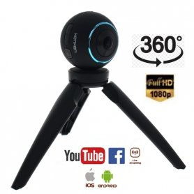 Cámara panorámica Full HD digital de 360 ​​° con WiFi