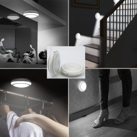 Luce rotonda a LED con batteria Li-on + sensore di movimento