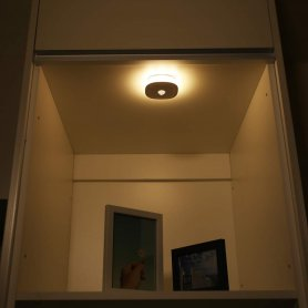 Magnetic LED round light powered by 3xAAA 1,5V battery with motion sensor