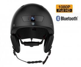 Casco de bicicleta con cámara FULL HD - Casco de bicicleta inteligente con Bluetooth (manos libres) con intermitente
