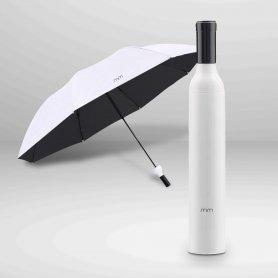 Összecsukható esernyő- hordozható + összecsukható esernyő fehér borosüveg alakban