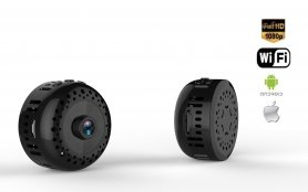 Mini Full HD WiFi camera with rotating magnetic joint