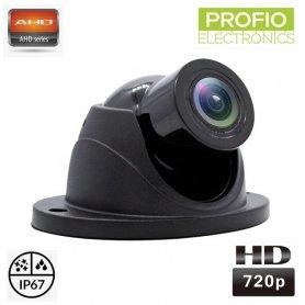 กล้องถอยหลัง Mini Dome AHD ความละเอียด HD 720P + หัวหมุน + มุมมองภาพ 120°