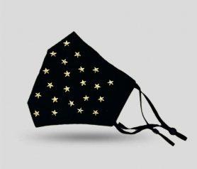 Maschera di lusso in seta 100%seta - Stelle dorate