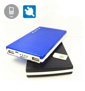 Multi-function power bank with built-in spy camera and interception via SIM card