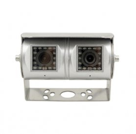Dual reversing camera with wide angle of view 190 ° vertical/120 ° horizontal