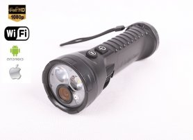 WiFi camera in flashlight waterproof with Full HD + 2 LEDs + 32GB memory