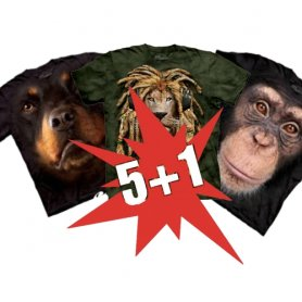 Sconto Super 5 + 1 Animal T-shirt gratis