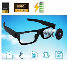 Okuliare s kamerou FULL HD dokonale maskovanou- Ergononomické +Ultra ľahké