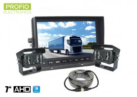 "AHD car parking set - 7"" LCD monitor + 2x 18 IR LED camera"