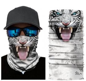 Animal multifunctional scarves on face or head - TIGER