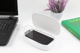Disinfection box XGerm ULTRA - Aroma sterilization in 8 minutes with 2x 1W UV + Wireless charging 10W